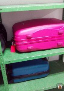 Maletas en el guarda equipajes