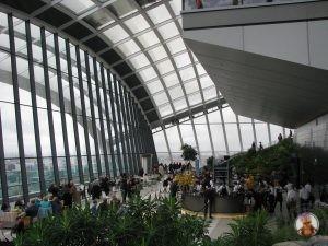 Vista del interior del Sky Garden