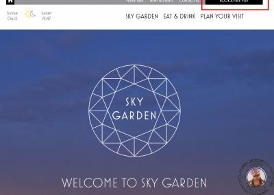paso1Pagina inicial del proceso de reserva de la visita al Sky Garden