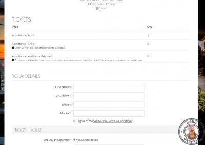Formulario de datos personales de los visitantes