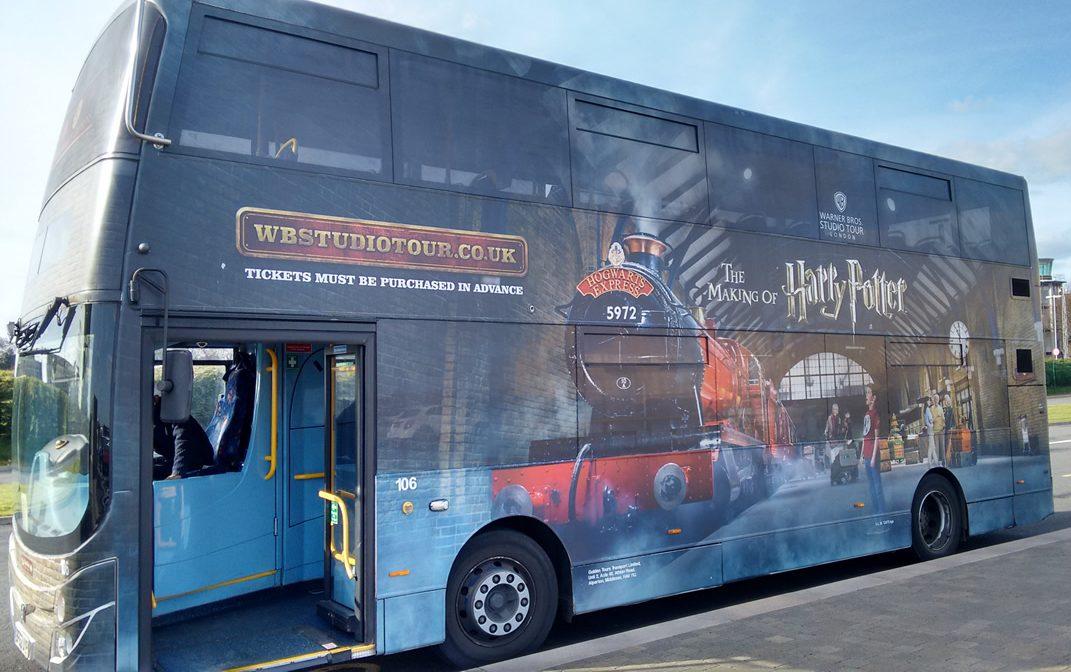 Autobús de los estudios de Harry Potter