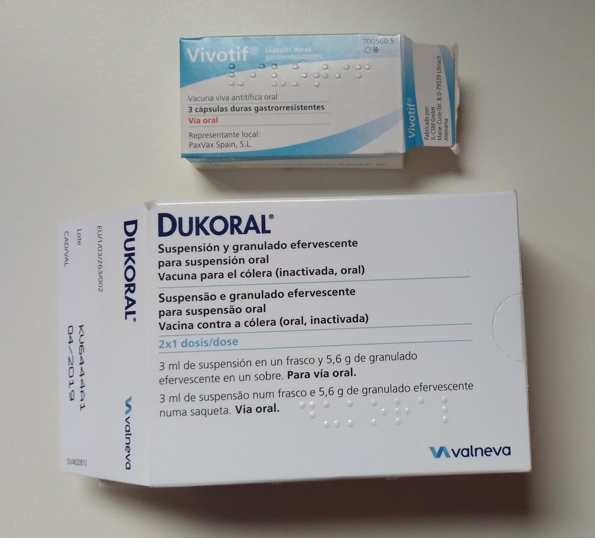 Vacuna para el cólera y para la fiebre tifoidea