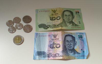 Cambio de moneda en Tailandia