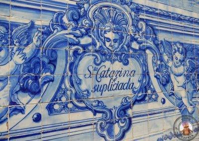 Detalle de la fachada de la Capela das Almas