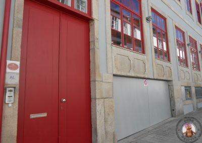 Entrada a los apartamentos Casas do Teatro