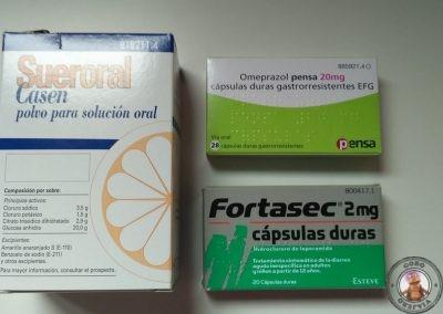 Medicamentos relacionados con la diarrea del viajero