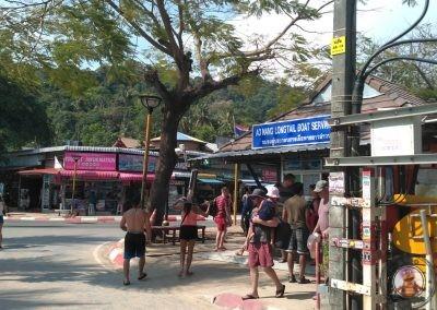 Oficina de venta de tickets para el longtail desde Ao Nang