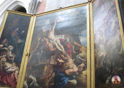Tríptico de Rubens La Elevación de la Cruz