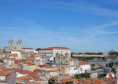 Vistas de Oporto desde el Mirador da Vitória