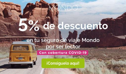 5% de descuento en tu seguro de viaje Mondo