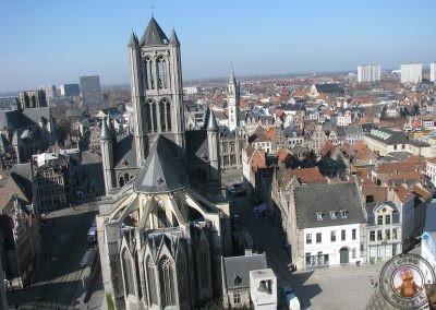 Iglesia de San Nicolás vista desde el Campanario de Gante