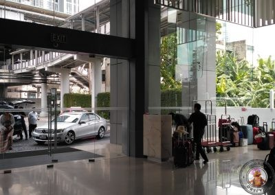 Zona de guardaequipajes del hotel