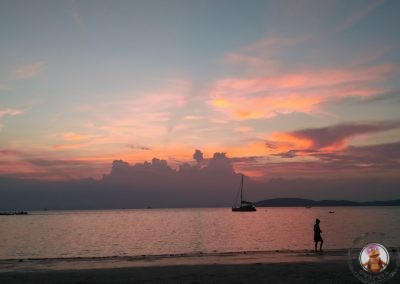 Atardecer en Phra Nang Beach