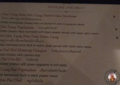 Carta con precios Restaurante Ruen Urai