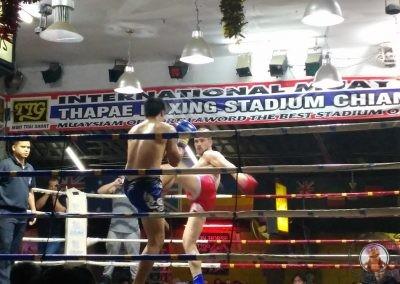 Combate de Muay Thai en Chiang Mai