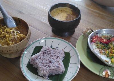 Comida en el Restaurante Coconut Shell de Chiang Mai