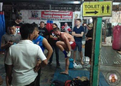 Luchadores preparándose para el combate