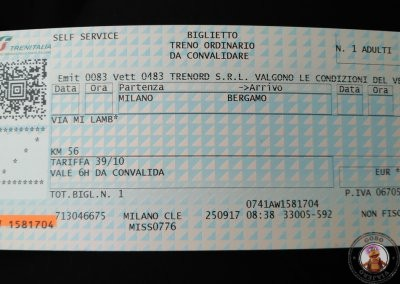 NO VÁLIDO: Billete de tren sin validar