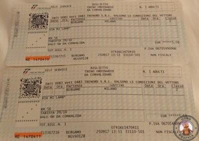 VÁLIDO: Billetes de tren validados