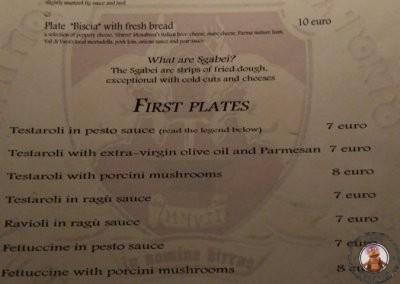 Carta del restaurante La Taverna del Metallo