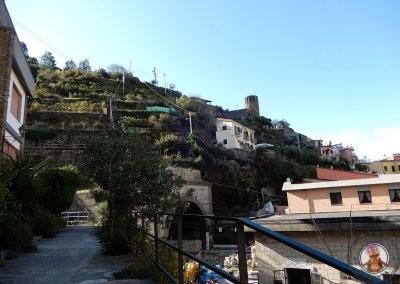 Comienzo del sendero Vernazza a Corniglia