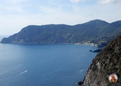 Vistas hacia Monterosso desde el sendero