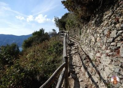 Trayecto del sendero entre Vernazza y Monterosso