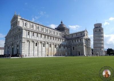 Duomo y Torre inclinada en la Piazza dei Miracoli de Pisa
