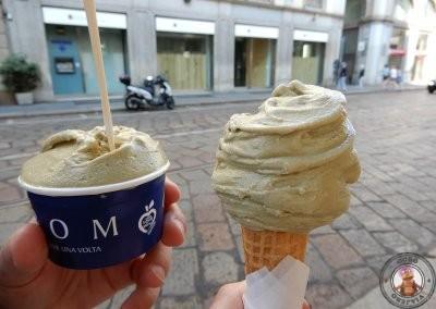Helados de pistacho de la heladería Grom