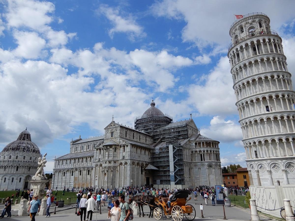 Piazza Miracoli en Pisa