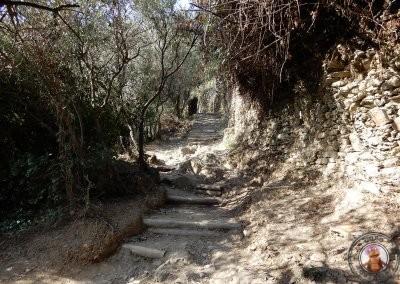 Primeras subidas del sendero de Vernazza a Monterosso