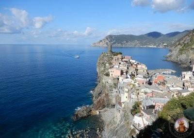 Vernazza - Vistas desde el comienzo del sendero entre Vernazza y Corniglia