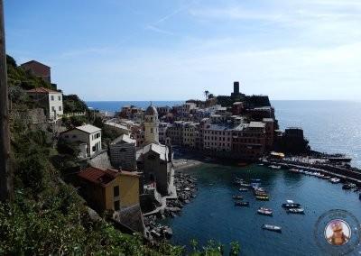 Vernazza desde el comienzo del sendero hacia Monterosso