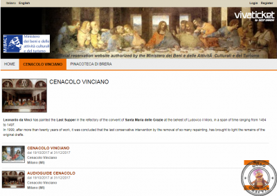 VivaTicket Reserva entradas para el Cenacolo Vinciano