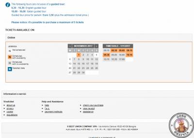 VivaTicket Reserva entradas para el Cenacolo Vinciano - Calendario de fechas