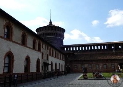 Castillo Sforzesco en Milán