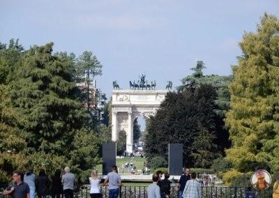Parque Sempione y el Arco della Pace al fondo
