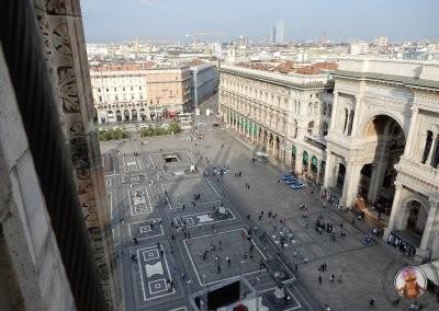 Vistas hacia las Galerías Vittorio Emanuele II