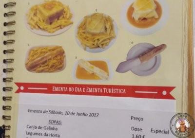 Carta del Café Santiago en Oportp