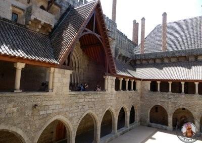 Vista del patio del Palacio de los Duques de Braganza