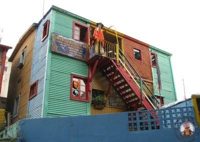 Fachadas de colores en uno de los barrios más conocidos de Buenos Aires