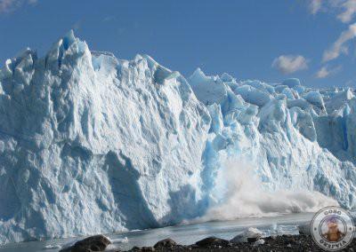 Derrumbe de una parte del Perito Moreno