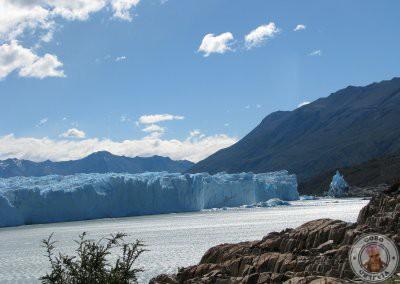 Vistas del glaciar Perito Moreno desde el refugio