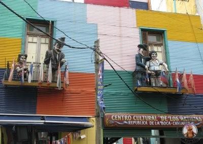 Pintorescas casas de colores