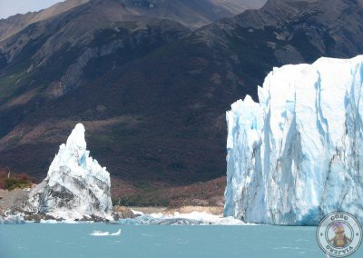 Vistas del Perito Moreno durante el recorrido en barco