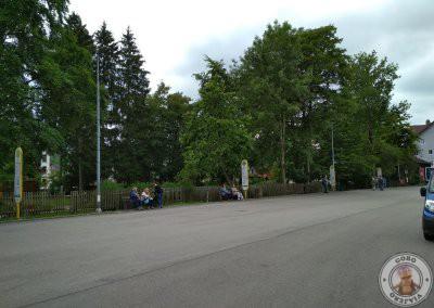 Parada de autobuses 73 y 78 que llevan a Hohenschwangaudesde la estación de tren de Füssen
