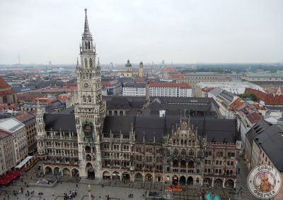 Vistas de Marienplatz desde el mirador de la Iglesia de San Pedro