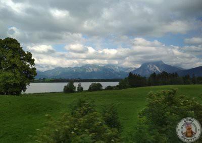 Vistas desde el tren en el trayecto Munich - Füssen