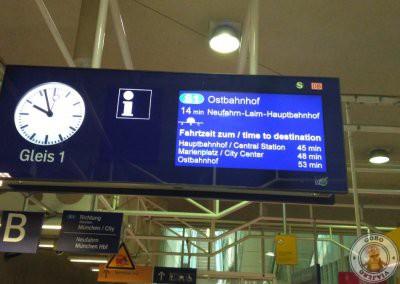 Línea S1 - Tren desde el aeropuerto al centro de Munich