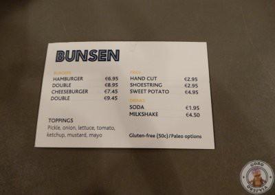 Menú de Bunsen